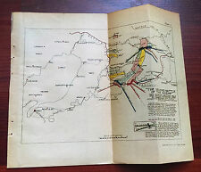 1918 WW I Sketch Map, The Second Battle of The Marne, American Divisions