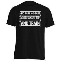 No pain no gain now shut up and train Men's T-Shirt/Tank Top bb735m