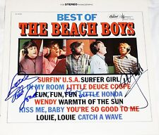 THE BEACH BOYS HAND SIGNED AUTOGRAPHED BEST OF ALBUM BY 3! WITH PROOF + C.O.A!