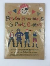 Meri Meri Pirate Party Placemats & Games Eight  Activity Sheets Stickers New