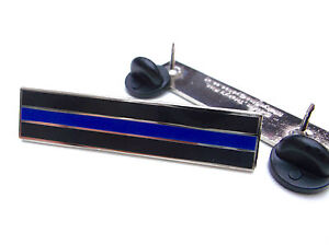 THIN BLUE LINE POLICE OFFICER MERIT CITATION MOURNING BAND COPS BAR PIN BADGE