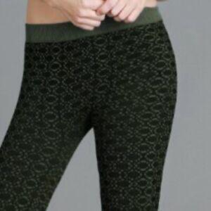 NEW Dark Olive Green Beehive Pattern Print Leggings by Nikibiki