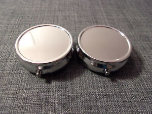 Shiny Metal Pill Box Containers Lot of 2