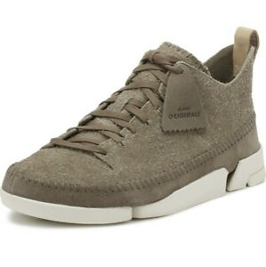 Clarks Originals Mens Trigenic Flex Shoes in Grey Suede Lace Up Uk (9G ) /43