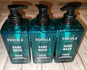 3 Bottles Portola Fresh Invigorating Citrus & Bergamot Hand Wash 16 fl oz Each