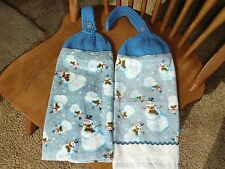 Christmas - Lots of Snowmen Knit Top Kitchen Towels