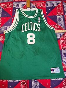 Vintage 90s CHampion Celtics WALKER mesh USA sports fan jersey # 8