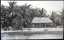 MEXICO ~ 1950's PIE DE LA CUESTA ACAPULCO GRO. ~ Tiny Beach Town ~ CAFE ~ RPPC