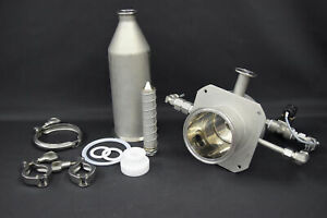 """Stainless Steel Pharmaceutical Filtering Cylinder Housing 15""""L x 4"""" Diameter"""