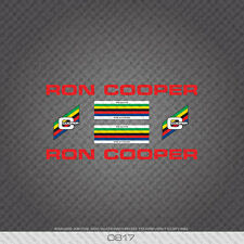 0817 Ron Cooper Bicycle Stickers - Decals - Transfers - Red