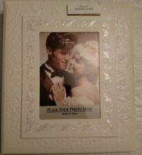 Vintage Hallmark Wedding Album New In Box White Embossed Roses Design