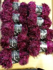 King cole tinsel chunky wool . Colour Turkish delight 9 x 50 g balls