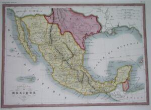 1846 ORIGINAL MAP UNITED STATES MEXICO TEXAS CALIFORNIA Austin Houston YUCATAN