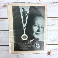Vintage 1946 Harman Schcherezad Cloisonne Medallion Watch Original Print Ad