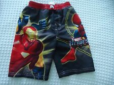 Boy's size 5 Marvel Heroes Spiderman and Friends  Swim Suit Trunks from Marvel
