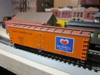 MORRELL MEATS   REEFER , rtr built CAR 1/87 ho ROUNDHOUSE=ATHEARN?? KADEES