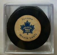 RARE VINTAGE TORONTO MAPLE LEAFS GAME PUCK STAMPED made in CANADA BILTRITE SLUG