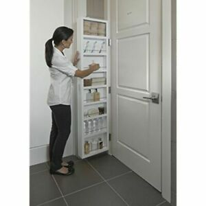 Extra Storage Cabinet Deluxe Behind The Door Fits Medicine, Bathroom, Kitchen