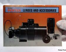 Pentax Pk Asahi Lenses and Accessories Guide Genuine (En) booklet brochure