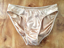 VICTORIA'S SECRET NUDE SATIN SECOND SKIN HIGH CUT PANTIES UNDERWEAR LINGERIE-L