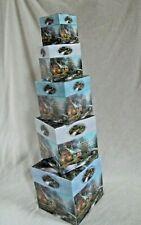 Thomas Kinkade Nesting Stacking Boxes, Cottages Scriptured, Storage Boxes