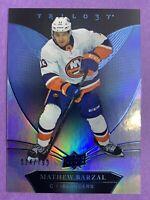 2018-19 Upper Deck Trilogy Blue #8 Mathew Barzal 24/799 New York Islanders