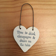 EAST OF INDIA LITTLE HEART SIGNS  BUY 3 GET 1 FREE! 3cmx3cm Wedding Favours Chic