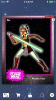 Topps Star Wars Digital Card Trader Pink Steel Ahsoka Tano Base 4 Variant
