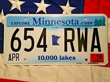 MINNESOTA license licence plate plates USA NUMBER AMERICAN REGISTRATION