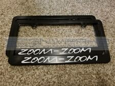 Mazda Zoom Zoom License Plate Frame Miata MX5 CX3 RX7 RX8 Mazdaspeed - Pair