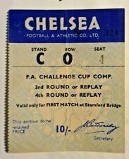 More details for chelsea v darlington match ticket f.a. cup 4th round 25/1/1958 stamford bridge.