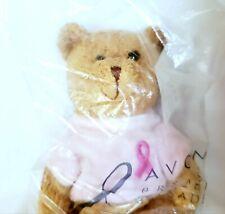"""Avon Breast Cancer Crusade Plush 6½"""" Teddy Bear Rosie New Sealed Bag"""