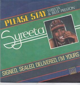 Syreeta-Please Stay vinyl single