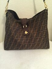 Fendi Zucca Large Hobo Shoulder Bag $1450