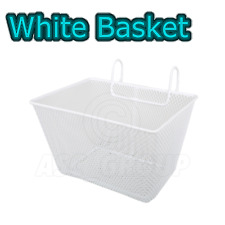 White Kids Metal Wire Cycling Basket Junior Bike Bicycle Girls Childrens