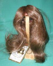"Peluca de muñeca/cabello humano 10"" a 10.5"" Marrón Largo/GLOREX/ehperücke 25-27 Braun, Lang"