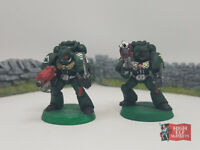 Space Marines with Bolters Metal x 2 - Warhammer (Out of print) -1993-