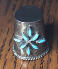 Thimble+Sterling+Silver+and+Turquoise+Zuni+Native+American