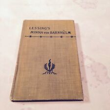 GOTTHOLD LESSING - MINA VON BARNHELM 1899  *FIRST EDITION*