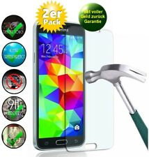 2x Samsung Galaxy S5 Panzerglas 9H Schutzfolie Echtglas Folie Panzerfolie