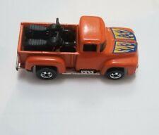 1973 Hot Wheels '56 Hi-Tail Hauler Orange Truck Motorcycles Blue Flame Hood 9647