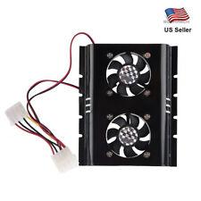 3.5 SATA IDE Hard Disk Drive HDD 2 Fan Cooler