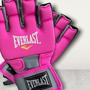 Everlast Cardio MMA Kickboxing BOXING Pink Fitness Gloves Size Small / Medium
