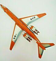 Vintage Tin Supersonic Jet Liner SR-649 Japan Tin Litho Airplane Plane Tomiyama