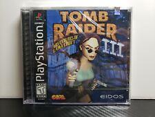 Tomb Raider Iii 3: Adventures of Lara Croft Sony Playstation 1 Ps1 New Sealed