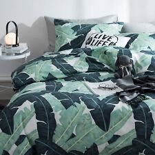 Tropical Island Duvet Quilt Cover Set Double Full Queen Size 100% Cotton