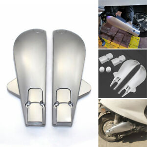 2x Motorcycle Scooter Rear Flat Fork Splash Guard Protect Mudguard Shield 325MM