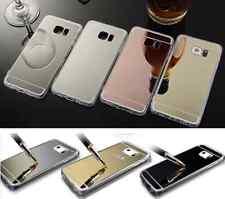 Funda Samsung S4 S5 S6/edge/Plus S7/edge S8/Plus gel espejo+Cristal opcional
