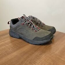 🔥 Merrell Leather Athletic Trail Hiking Boots Shoes Men's Size 10 Green Grey