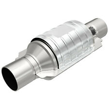 """Magnaflow 99234HM High-Flow Catalytic Converter Round 2"""" In/Out w/ O2 Port OBDII"""